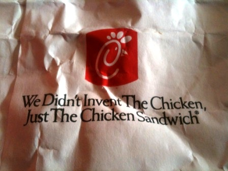 Chick-fil-A motto on the bag